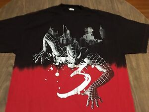 Spider Man 3 Half Red Half Black XL T Shirt Marvel Comics ...