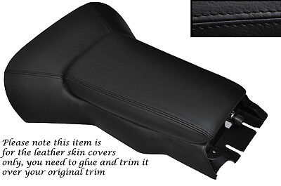 BLACK STITCH CENTRE CONSOLE COVER + ARMREST COVER FITS CORVETTE C5 1997-2004