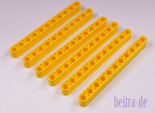 6 x Liftarm dick 1x11 gelb Yellow Liftarm Thick 32525 NEUWARE LEGO Technik