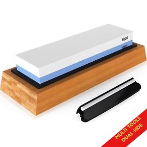 Wood Chisel Sharpener Stone 1000 / 6000 Grit Double Sided Sharpening Whetstone