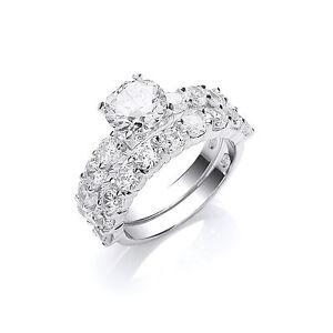 Bridal Set 1 Carat Solitaire Engagement Ring Wedding Ring Sterling Silver - Warwickshire, United Kingdom - Bridal Set 1 Carat Solitaire Engagement Ring Wedding Ring Sterling Silver - Warwickshire, United Kingdom
