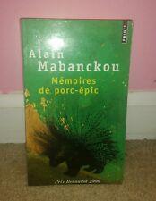 Memoires De Porc-epic by Alain Mabanckou (2006, Book)