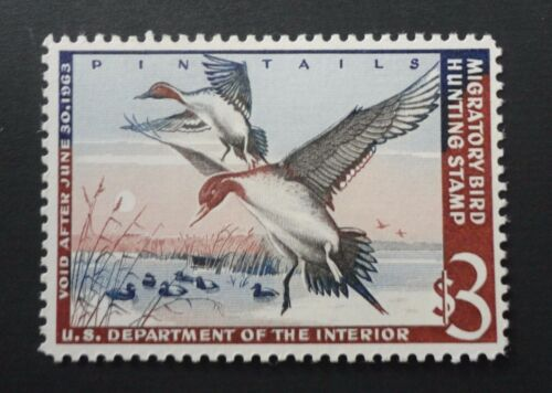 SCOTT #RW29 VF MINT 1962 PINTAIL DRAKES FEDERAL DUCK STAMP CV $110.00