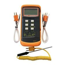Dual Channel Lcd Thermometer Meter Single Input K Type Withthermocouple Probe