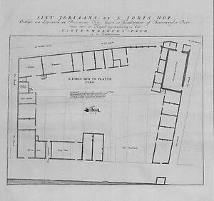 Antique-map-Sint-Joriaans-of-S-Joris-Hof