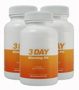 Details About 3 Day Slimming Pill 3 Pack 3 Day Diet Three Day Diet