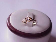 1800's Antique Old European Cut Diamond Belcher Ring 14K Victorian