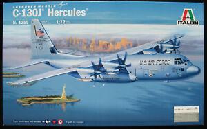 ITALERI-1255-Lockheed-C-130J-Hercules-1-72-Flugzeug-Modellbausatz-Kit