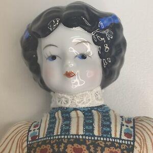 Vintage-1981-AVON-American-Heirloom-Porcelain-Head-Doll