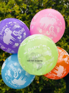 Pack-of-10-12-034-Latex-Balloons-Baby-Girl-Boy-sheep-print-Baby-Shower-Balloons