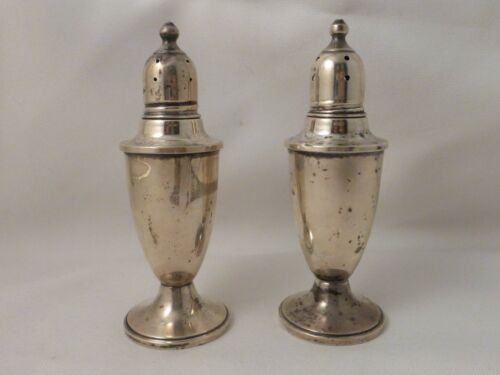 Empire Sterling Set of Salt and Pepper Shakers 4 12""
