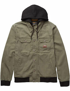 a66f54b9a6ad Image is loading Billabong-Banger-Canvas-Jacket-in-Military