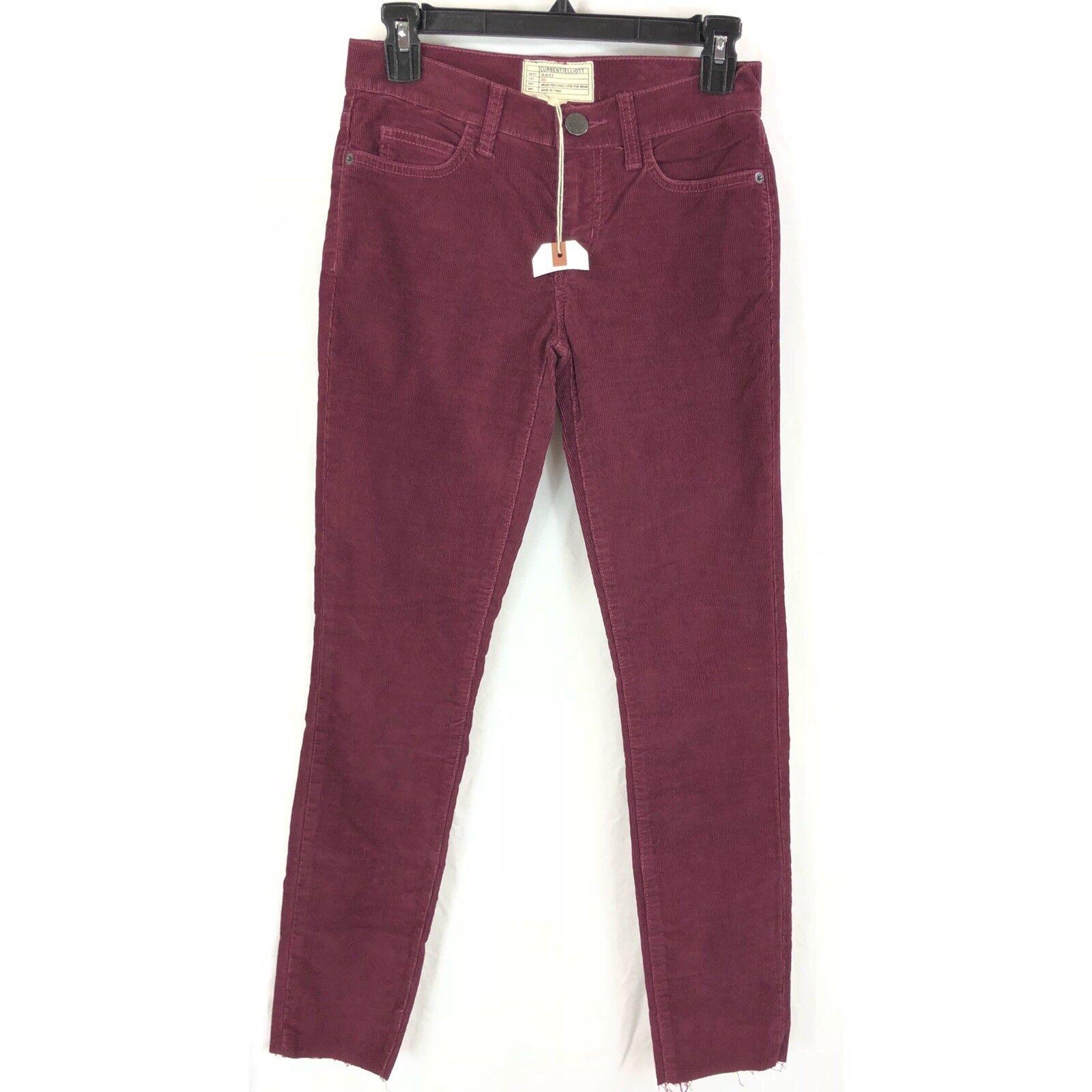 Current Elliott The Stiletto Skinny Leg corduroy jeans released hem 24 NWOT