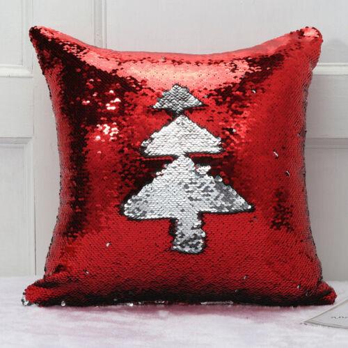 """16/"""" Reversible Magic Mermaid Throw Pillow Cover Sofa Cushion Sequin Glitter Case"""