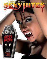 Sexy Bites Women's Small Vampire Dracula Halloween Costume Faux Teeth Fangs