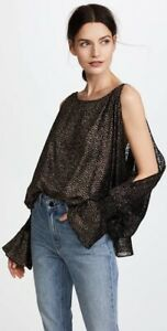 Sold-Out-Stunning-NILI-LOTAN-Devon-Blouse-In-Gold-Sz-S-BNWT-RRP-899
