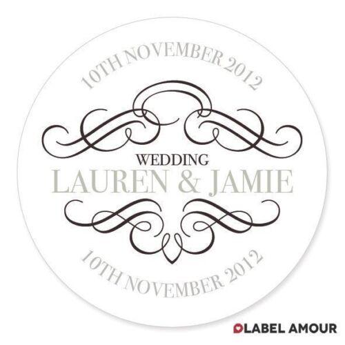 PERSONALISED Anniversary Wedding Gift Favour Sticker Seals LabelsHawkins