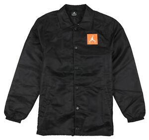 JORDAN-Like-Mike-Gatorade-Coaches-Jacket-sz-S-Small-Black-Orange-Retro