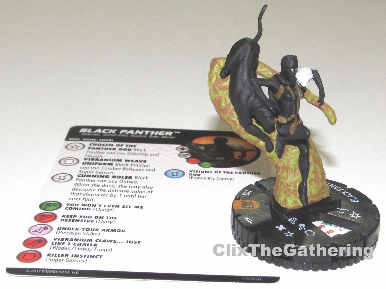 Pantera Negra Avengers Defensores Guerra Marvel Heroclix Persecución