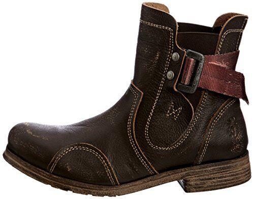 FLY LONDON STRUB marrón marrón marrón DISTRESSED LEATHER COMBAT BIKER botas UK 4 EU 37  directo de fábrica