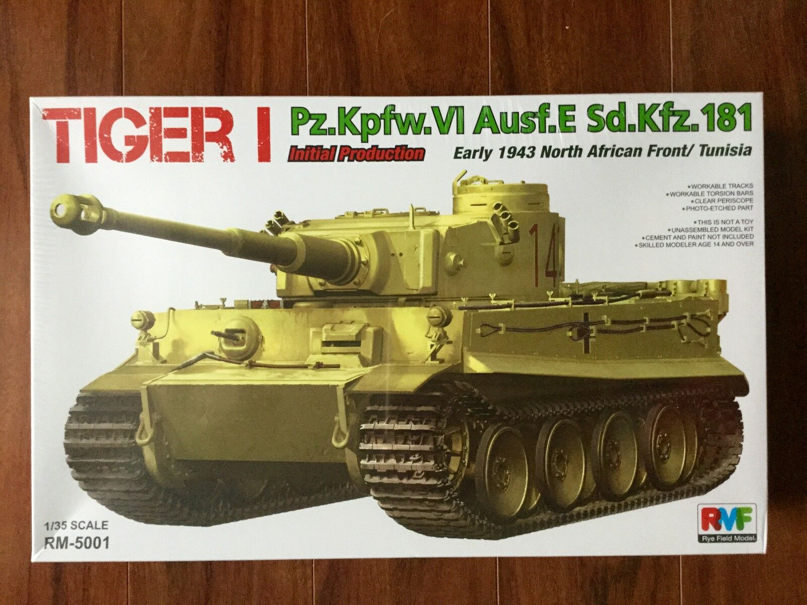 RYE FIELD modellllerL 1  35 WW II TYRMAN TIGER AUSF.E SD.KFZ.181 NORDAFRICA 501 F  S