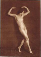 1920's Vintage German Female Nude Model Art Deco Hess Dance Photo Gravure Print