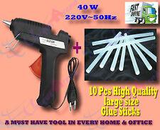 40 W Brand New Hot melt Glue Gun + 10 Pcs BIG Glue Sticks for Multi-purpose use