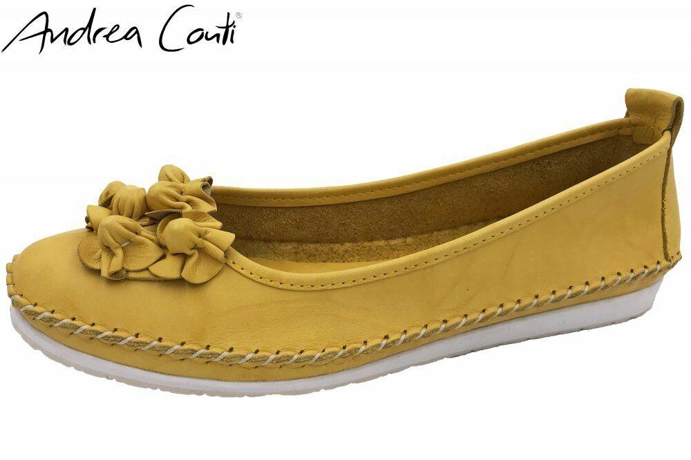 Andrea Conti Slipper Gelb mit Blaume Schuhe Leder 0027987-051