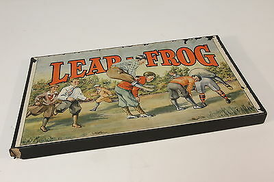 Leap Frog W/ Original Box 1928 Board Game RG Schwartz No Game Pcs Great Graphics