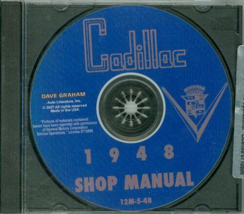 1948 CADILLAC SHOP//BODY  MANUAL ON CD