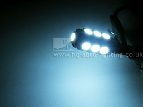 T10 501 W5W Can Bus 8000K interior sidelights WHITE LED 13-SMD bulbs