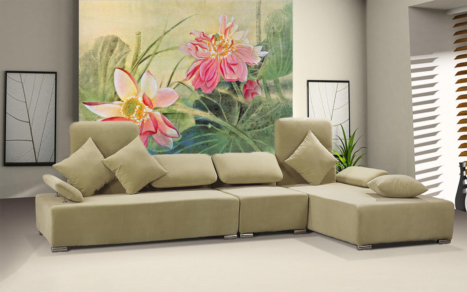 3D Blooming Lotus 87 Wall Paper Murals Wall Print Wall Wallpaper Mural AU Summer
