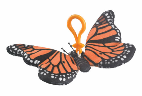 "Wildlife Tree 6.5/"" Monarch Butterfly Stuffed Animal Clips for Kids Backpack Toy"