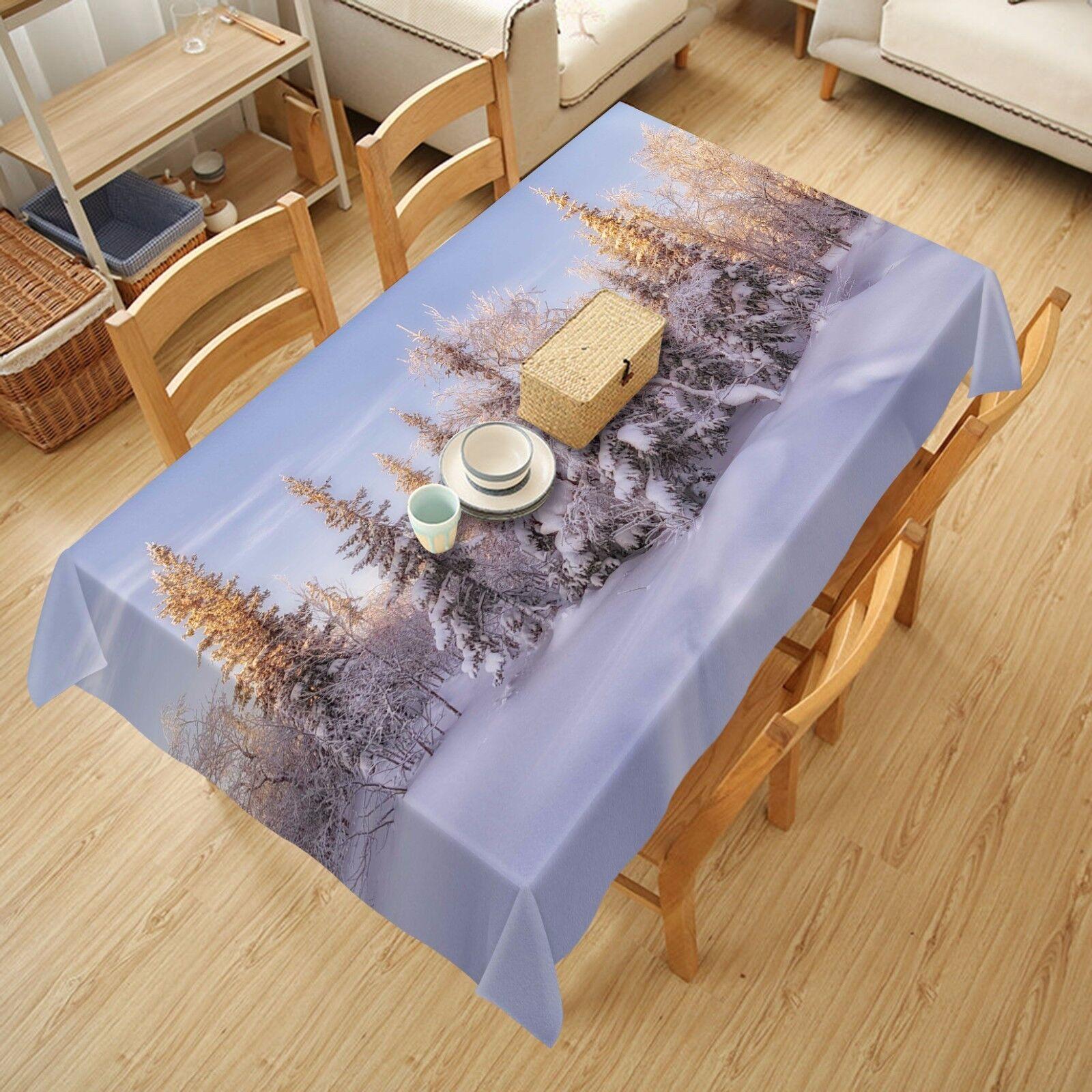 3D Pin Neige Nappe Table Cover Cloth fête d'anniversaire AJ papier peint Royaume-Uni Citron