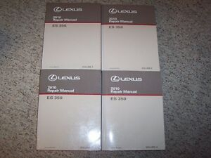 2010 lexus es350 es 350 workshop shop service repair manual set vol rh ebay com 2010 lexus es 350 owners manual 2010 Lexus ES 350 Interior