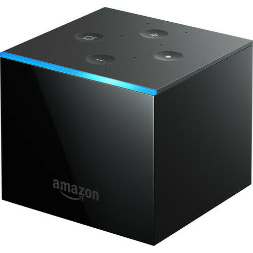 New Amazon Fire TV Cube 16GB 2nd Gen Streaming Player with Voice Remote - Black 16gb 2nd amazon cube fire gen new player streaming with