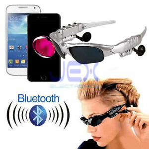 Bluetooth-headset-Sunglasses-Glasses-Shades-Play-MP3-Call-from-phone-SILV