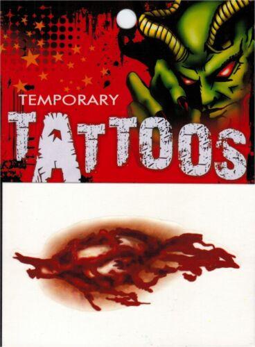 Fractured Bone Wound Temporary Tattoo Zombie Halloween Special FX