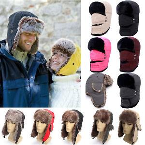 1a2227703cb Trapper Hat Russian Ushanka Sherpa Cossack Fur Warm Winter Ski Cap ...