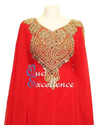 Maxi Kaftan Dress Eid Fully Lined Flowing Arabian Farasha in Several Colours