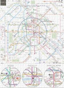 Paris Metro Subway Map.Details About Jigsaw Puzzle Trains Subway System Map Paris Metro 500 Pieces New