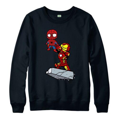 Vendicatori Ironman E Spiderman Maglione IL RE LEONE ispirato spoof Maglione Top