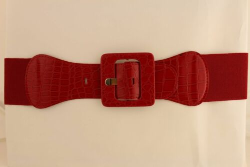 Hot Women Hip High Waist Elastic Belt Waist Fashion Bright Red Color Size M L XL