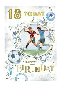 18 Today Happy Birthday Football Card For Age 18 Male