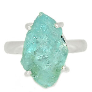 Aquamarine-Rough-925-Sterling-Silver-Ring-Jewelry-s-7-AR173786