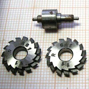 Set 2 fraise module horloger tour cutting watchmakers Mikron cutter pinion 11 d
