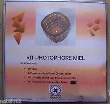 ) kit photophore miel mosaïque vitrail