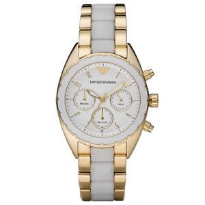 Emporio-Armani-AR5944-Sportivo-Gold-White-Chronograph-Ladies-Watch