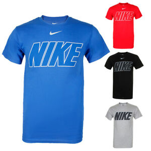 Nike-Men-039-s-Short-Sleeve-Logo-Graphic-Crew-Neck-Active-T-Shirt