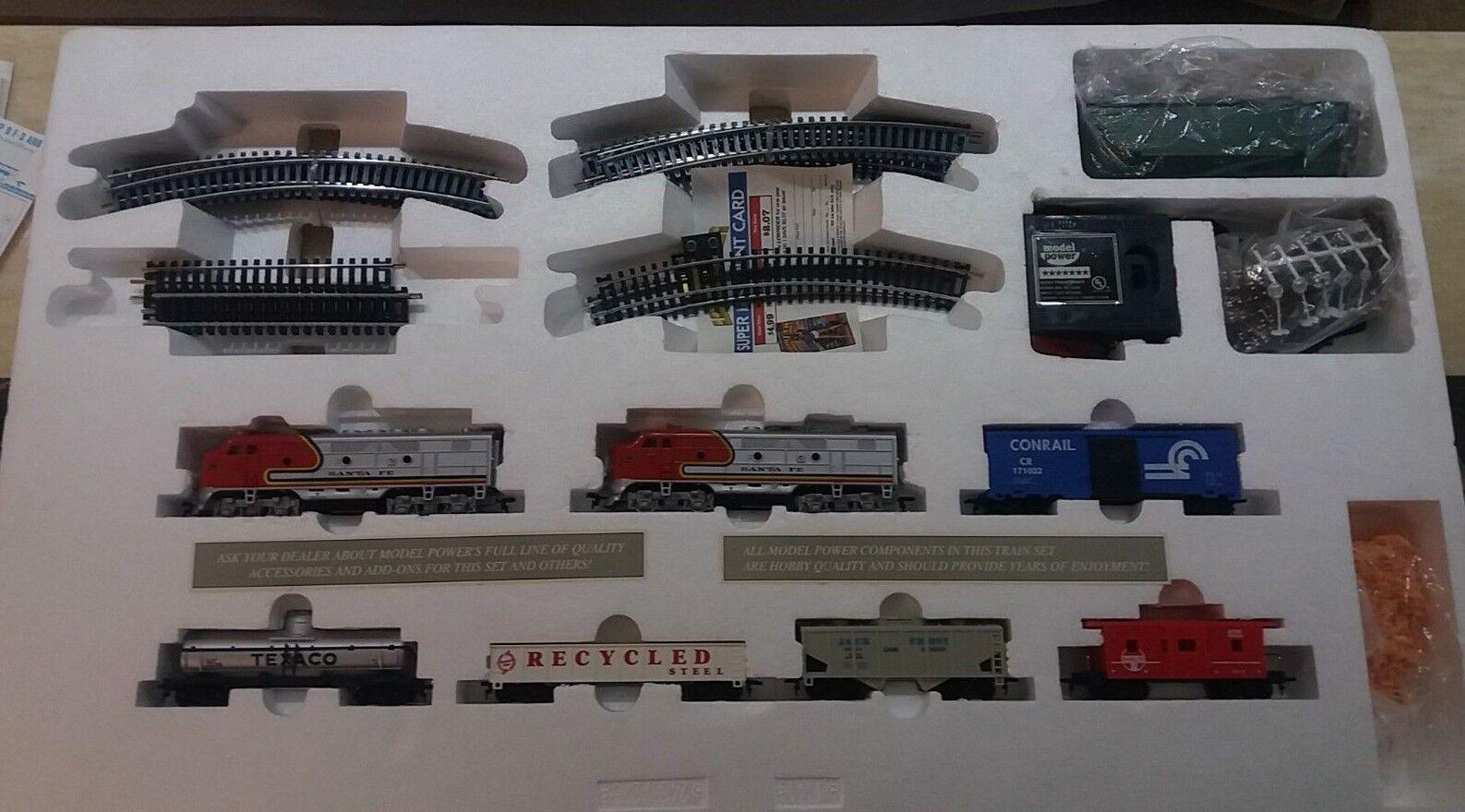 Model Power HO Scale Twin Diesel Diesel Diesel Ready To Run Train Set  1041 e198c3